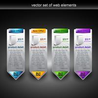 visualizzazione del prodotto web vettore