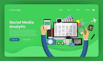 mock-up design sito web design piatto concept marketing digitale. sviluppo del web design. illustrazione vettoriale. vettore
