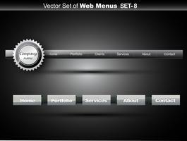 menu del sito Web vettore