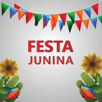 illustrazione vettoriale e sfondo di festa junina