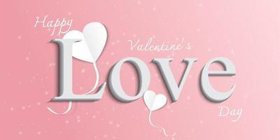 felice giorno di San Valentino biglietto di auguri sullo sfondo. vettore
