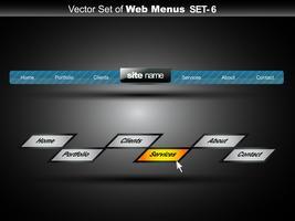 menu web vettore