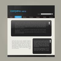 Modello di sito Web vettore