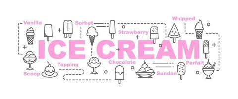 banner vettoriale di gelato