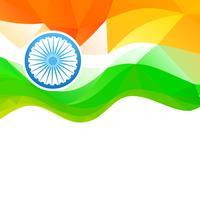 bandiera indiana di stile di onda vettore