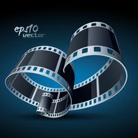 film di bobina realistico vettoriale