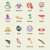 elementi vettoriali zombie