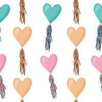 Vector seamless pattern con palloncini multicolori
