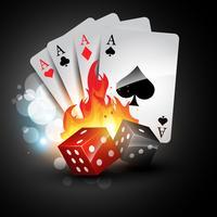 carta da gioco e dadi vettore