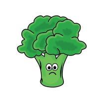 illustrazione di progettazione del modello di vettore del carattere di broccoli carino