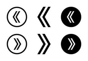freccia destra e sinistra set di design vettoriali gratis