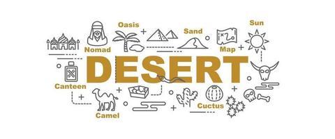 banner vettoriale del deserto