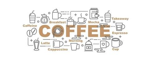 banner vettoriale di caffè