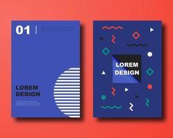 copertina di disegno materiale astratto blu scuro vettore