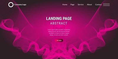 linee ondulate della pagina di destinazione del sito Web di sfondo astratto con sfumatura rosa vettore