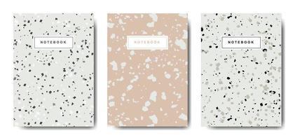 modelli di copertina astratta del terrazzo. layout astratti universali. applicabile per quaderni, agende, opuscoli, libri, cataloghi vettore