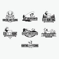 distintivi di caccia. loghi modelli di disegno vettoriale