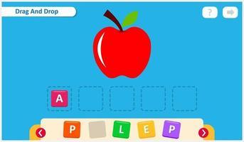 modello di progettazione del gioco di ortografia per bambini vettore