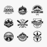 distintivi di avventura loghi modelli di disegno vettoriale