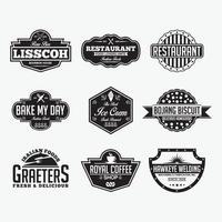 distintivi ristoranti vintage e loghi modelli di disegno vettoriale