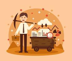 Illustrazione di data mining dei dipendenti vettore