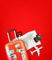 illustrazione di viaggio con personale diverso vettore