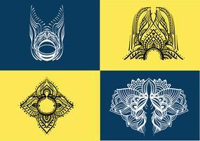 pacchetto di vettore di arte del hennè
