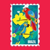 Francobollo del Brasile vettore