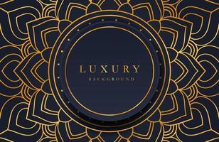 sfondo ornato di lusso oro mandala per invito a nozze, copertina del libro. arabesco sfondo islamico vettore
