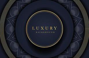 elemento dorato di sfondo elegante di lusso sulla superficie nera scura. layout di presentazione aziendale vettore