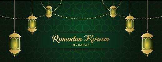 modello di sfondo banner ramadan kareem vettore