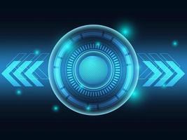 sfondo futuristico tecnologia blu vettore