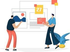 amministrazione gestione pianificazione concetto di marketing aziendale online vettore