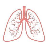 icona di polmoni isolato su priorità bassa bianca vettore