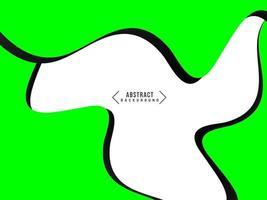 modello ondulato verde geometrico astratto con priorità bassa di disegno di movimento fluente vettore