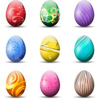 Uova di Pasqua decorative vettore