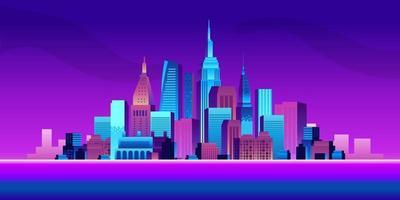 progettazione del grattacielo della costruzione urbana della grande città vettore