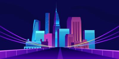 pop design alla moda del grattacielo della costruzione della città con la strada vettore
