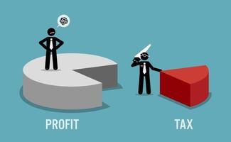 contribuente insoddisfatto delle entrate o dei profitti aziendali tassati dal governo vettore