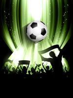 Sfondo folla di calcio vettore