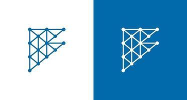 logo astratto lettera f con set di elementi di costruzione vettore