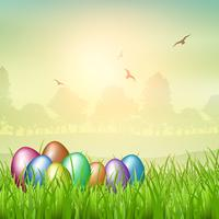 Backgroubnd dell'uovo di Pasqua vettore