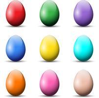 Uova di Pasqua colorate vettore