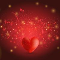 Sfondo cuore floreale vettore