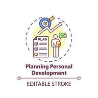 pianificazione icona del concetto di sviluppo personale vettore