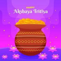 akshaya tritiya illustrazione vettore