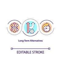 icona del concetto di alternative a lungo termine vettore