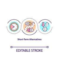 icona del concetto di alternative a breve termine vettore