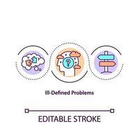 icona del concetto di problemi mal definiti vettore