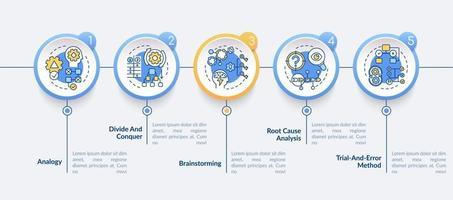 modello di infografica vettoriale di strategie di problem solving
